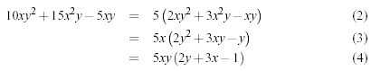 Multi-line equation using the eqnarray package.
